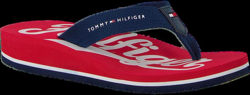 Rode TOMMY HILFIGER Slippers BASEBALL PRINT FLIP FLOP  - larger