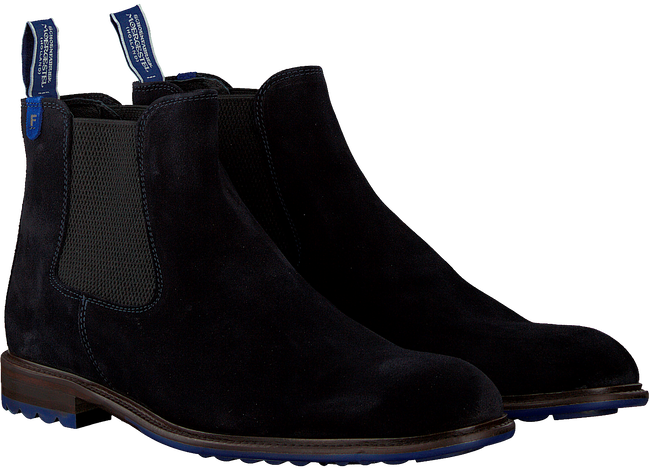 FLORIS VAN BOMMEL Bottines chelsea 10902 en bleu  - large