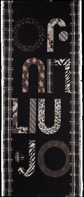 Zwarte LIU JO Sjaal STOLA MIX PRINT - large