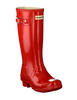 HUNTER Bottes en caoutchouc ORIGINAL KIDS GLOSS en rouge - small