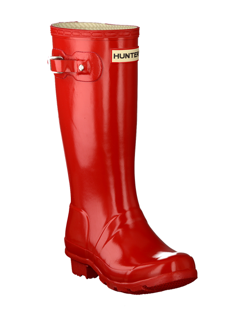HUNTER Bottes en caoutchouc ORIGINAL KIDS GLOSS en rouge - large