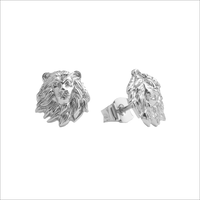 Zilveren ATLITW STUDIO Oorbellen PARADE EARRINGS LION - medium