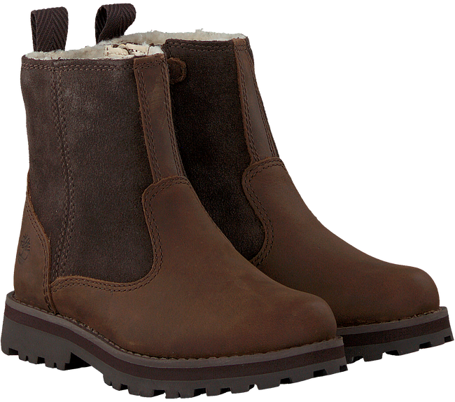 TIMBERLAND Bottillons COURMA KID WARM LINED en marron  - large