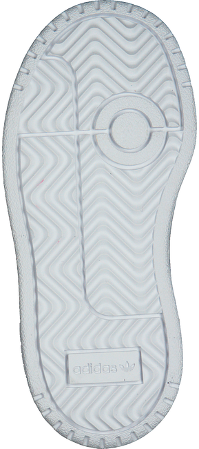 Witte ADIDAS Lage sneakers TEAM COURT EL I  - large