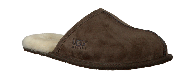 UGG Chaussons SCUFF en marron - large
