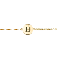 ALLTHELUCKINTHEWORLD Bracelet CHARACTER BRACELET LETTER GOLD en or - medium