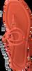 COACH Sandales JERI LEATHER SANDAL en orange  - small