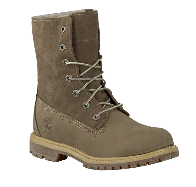 TIMBERLAND Bottillons AUTHENTICS TEDDY FLEECE en taupe - large