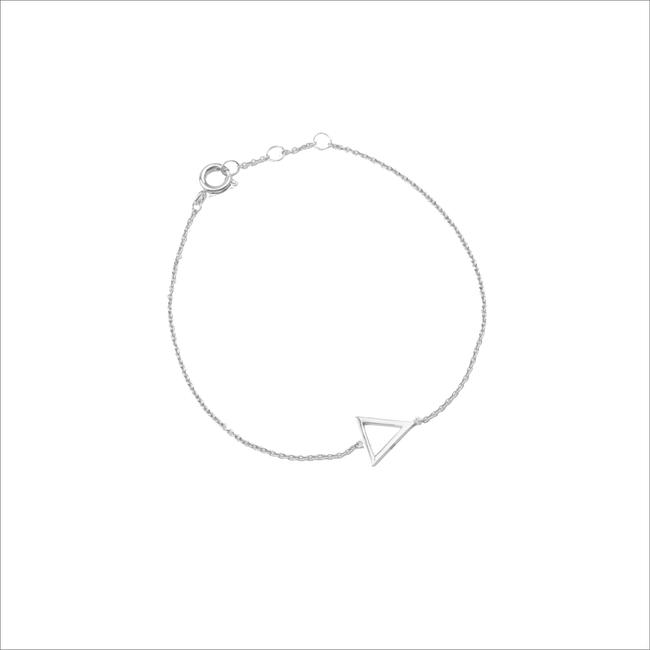 Zilveren ATLITW STUDIO Armband SOUVENIR BRACELET OPEN TRIANGLE - large