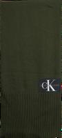 CALVIN KLEIN Foulard J BASIC MEN KNITTED SCARF en vert  - medium