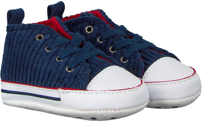 CONVERSE Chaussures bébé CHUCK TAYLOR ALL STAR FIRST ST en bleu - large