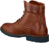 VAN LIER Bottines à lacets 5503 en cognac - small
