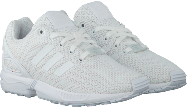 ADIDAS Baskets ZX FLUX KIDS en blanc - large