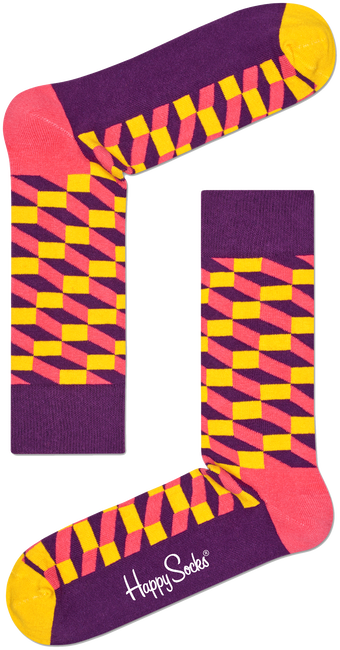 HAPPY SOCKS Chaussettes FILLED OPTIC en multicolore - large