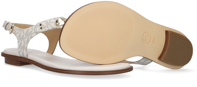 MICHAEL KORS Sandales MK PLATE THONG en beige - large