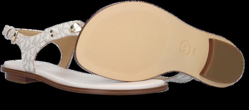 MICHAEL KORS Sandales MK PLATE THONG en beige - larger