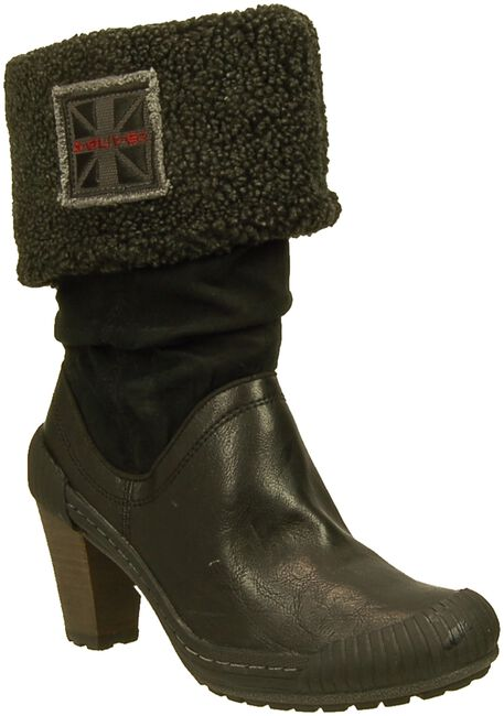 Zwarte S.OLIVER Lange laarzen 26622  - large
