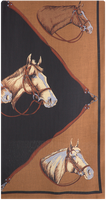 Bruine ROMANO SHAWLS AMSTERDAM Sjaal SHAWL HORSE  - medium