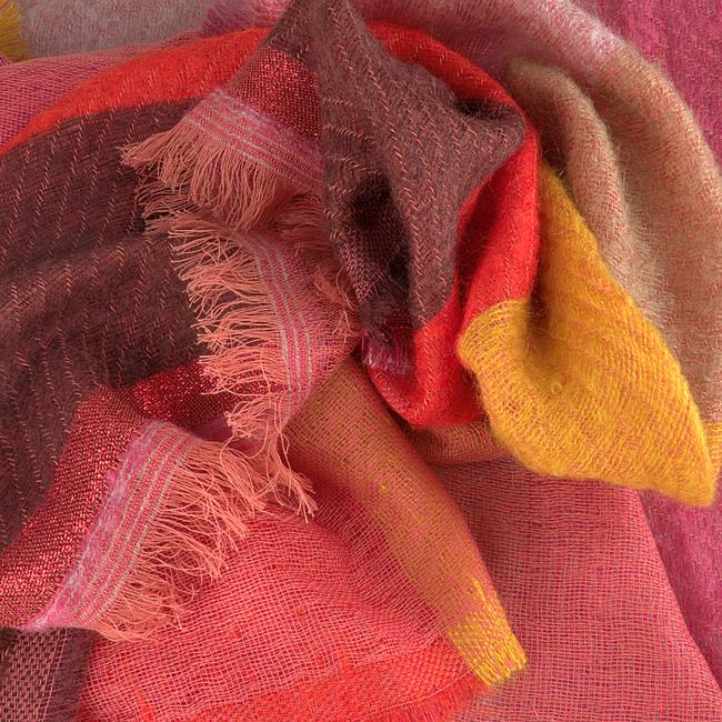 NOTRE-V Foulard CORTNEY en rouge  - large