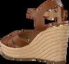 MICHAEL KORS Sandales SUZETTE WEDGE en cognac  - small