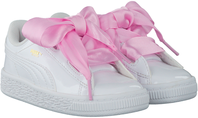 check out 79afe 76247 PUMA Baskets BASKET HEART PATENT KIDS en blanc - Omoda
