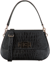 GUESS Sac bandoulière TRIPLE G SHOULDER BAG en noir  - medium