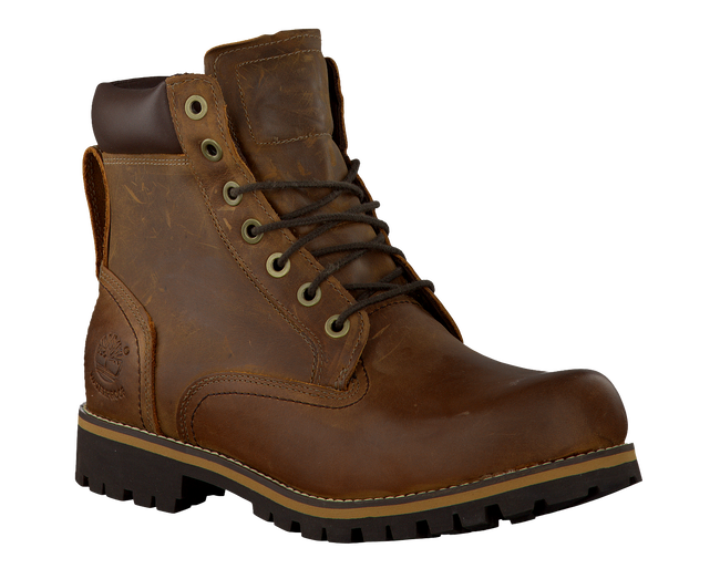 TIMBERLAND Bottillons RUGGED 6 IN PLAIN TOE WP en marron - large