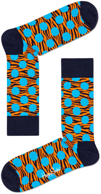 HAPPY SOCKS Chaussettes TIGER DOT SOCK en blanc  - large
