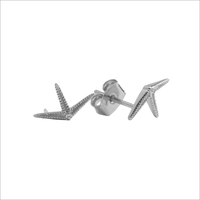 Zilveren ATLITW STUDIO Oorbellen PARADE EARRINGS STARFISH HALF - medium
