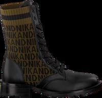 NIK & NIK Bottines à lacets BRANDY JACQUARD BOOTS en noir  - medium