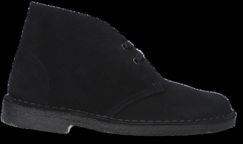 Zwarte CLARKS ORIGINALS Veterschoen DESERT BOOT DAMES - larger