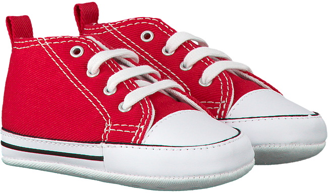 CONVERSE Chaussures bébé FIRST STAR en rouge - large