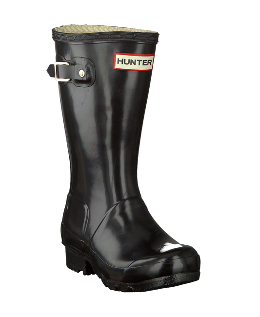 HUNTER Bottes en caoutchouc ORIGINAL KIDS GLOSS en noir - large