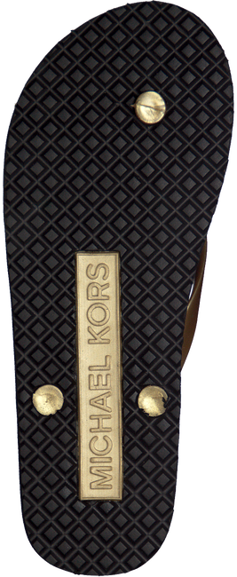MICHAEL KORS Tongs MK FLIP FLOP en or - large