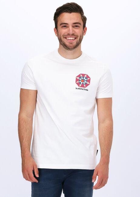 SCOTCH & SODA T-shirt GRAPHIC JERSEY T-SHIRT en blanc  - large