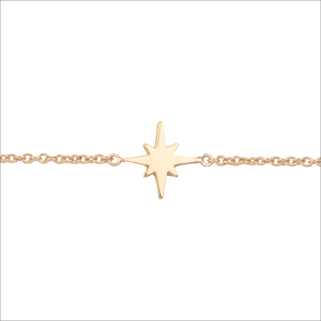 Gouden ATLITW STUDIO Armband SOUVENIR BRACELET STAR BURST - large