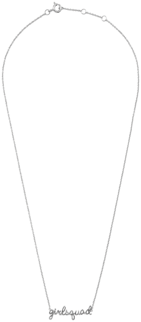 ALLTHELUCKINTHEWORLD Collier URBAN NECKLACE GIRLSQUAD en argent - large