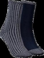 TOMMY HILFIGER Chaussettes TH WOMEN VERTICAL LUREX en gris - medium