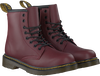 DR MARTENS Bottines à lacets DELANEY/BROOKLY en rouge - small