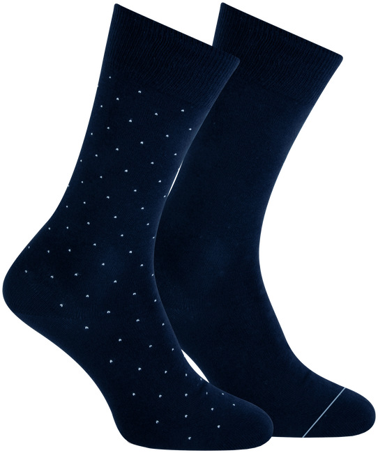 Blauwe MARCMARCS Sokken ANDREAS COTTON 2-PACK - large