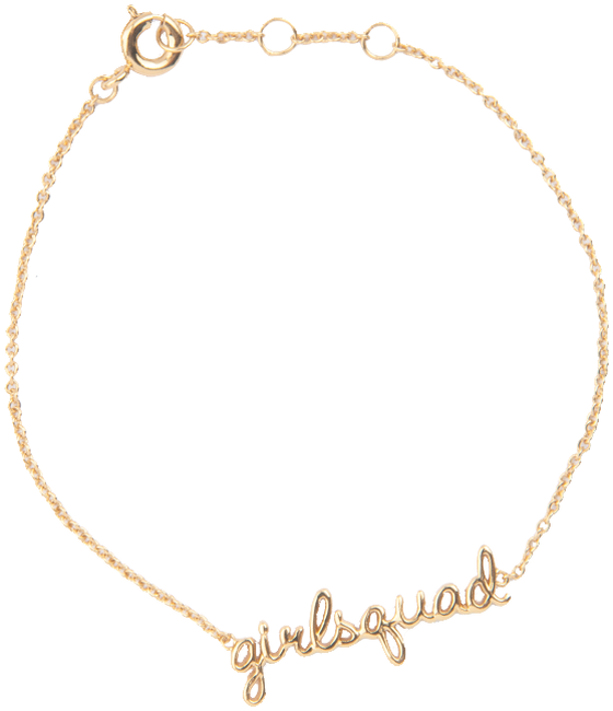 ALLTHELUCKINTHEWORLD Bracelet URBAN BRACELET GIRLSQUAD en or - large
