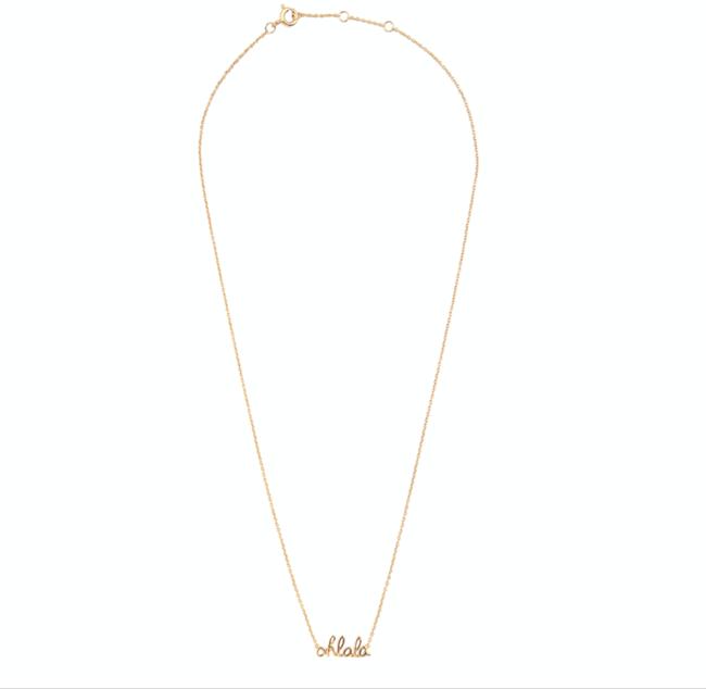 ALLTHELUCKINTHEWORLD Collier URBAN NECKLACE OHLALA en or - large
