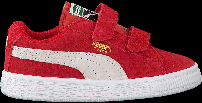 8e0988c2c5d Rode PUMA Sneakers SUEDE 2 STRAPS - Omoda.be