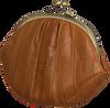 BECKSONDERGAARD Porte-monnaie GRANNY RAINBOW AW19 en cognac  - small