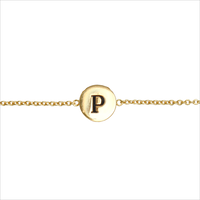 Gouden ATLITW STUDIO Armband CHARACTER BRACELET LETTER GOLD - medium