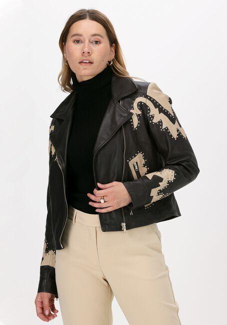 Bruine IBANA Leren jas BABE  - large