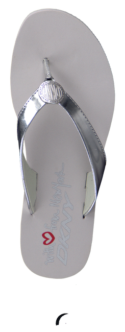 DKNY Tongs TOKEN en argent - large