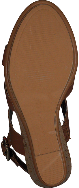 Cognac TOMMY HILFIGER Sandalen CORPORATE WEDGE  - large