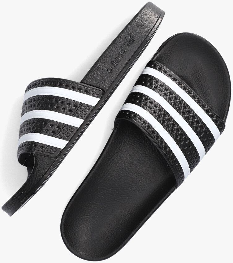 Zwarte ADIDAS Slippers ADILETTE MEN - larger