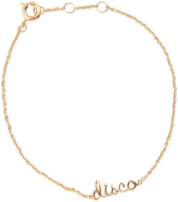 ALLTHELUCKINTHEWORLD Bracelet URBAN BRACELET DISCO en or - large